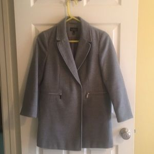TopShop double breasted coat with zip pockets sz 4